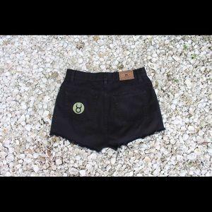Upcycled Vintage Denim Shorts: Taurus Patch